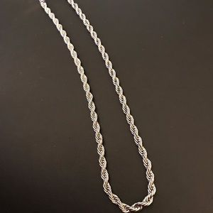 "Stainless Steel 20"" Rope Chain"